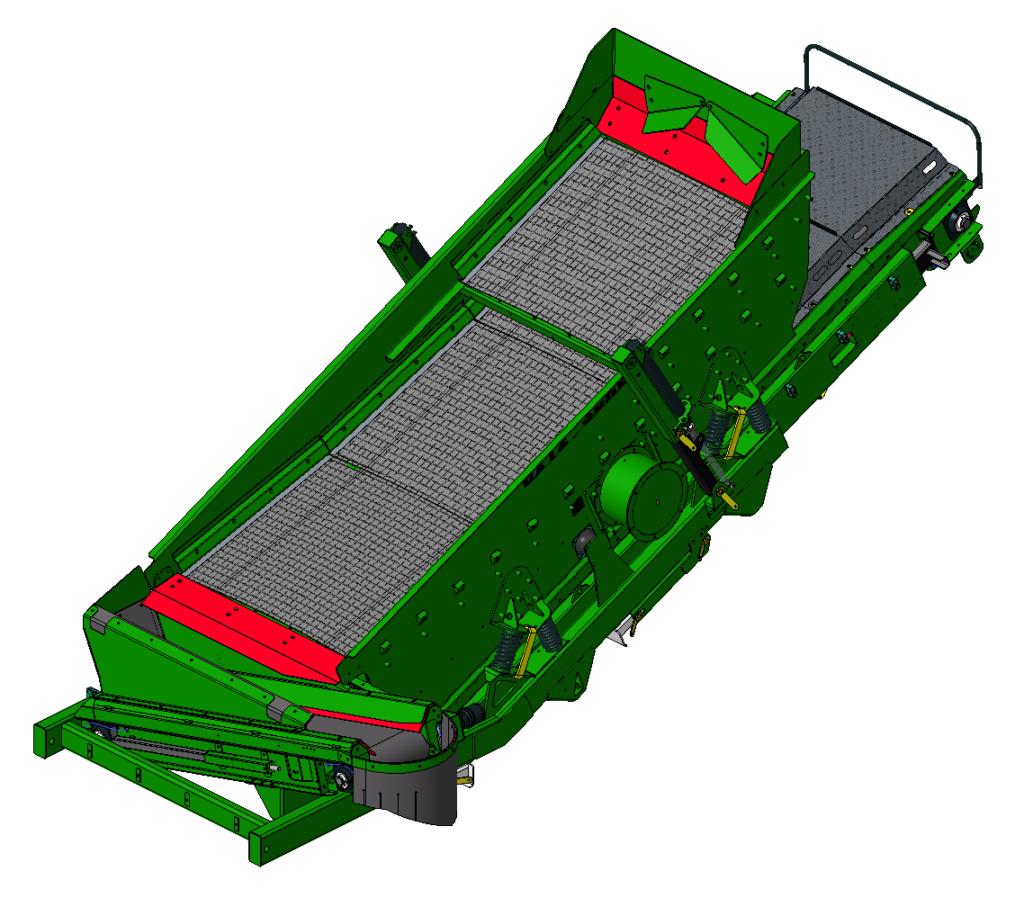 1.5DECK 3D zeef van een percussiebreker voor zware recyclingtoepassingen