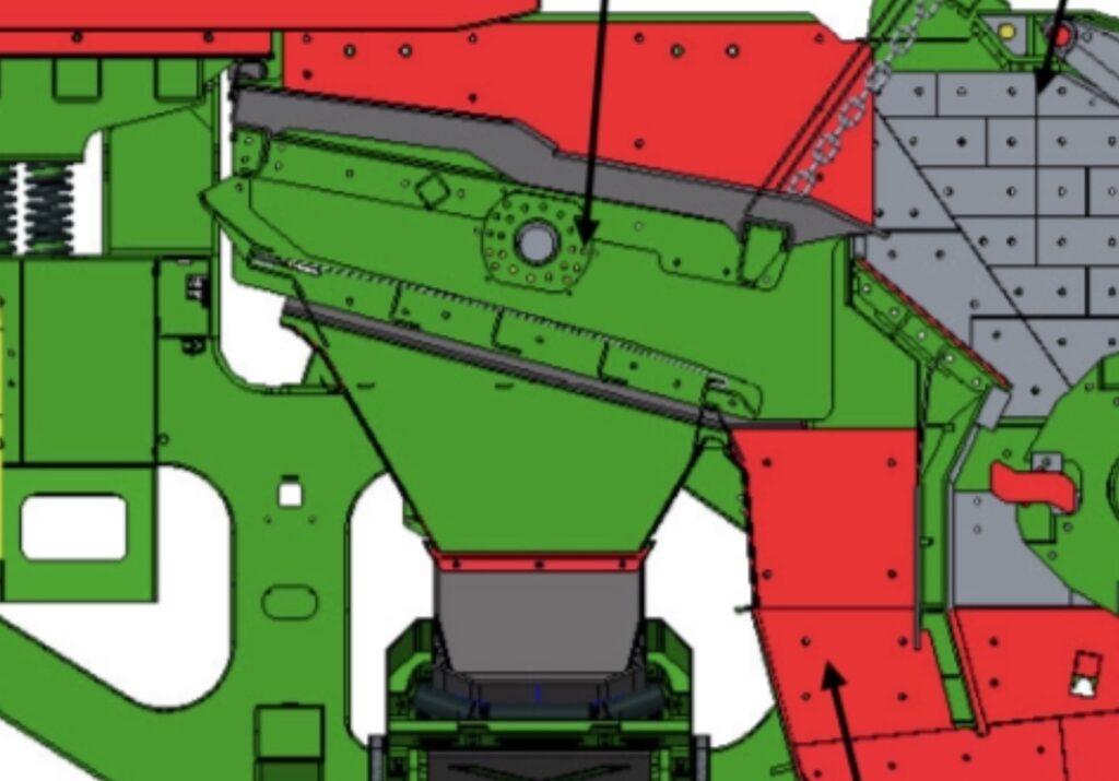 vertikale stortkokers voorafzeving vaneen percussiebreker voor zware recyclingtoepassingen