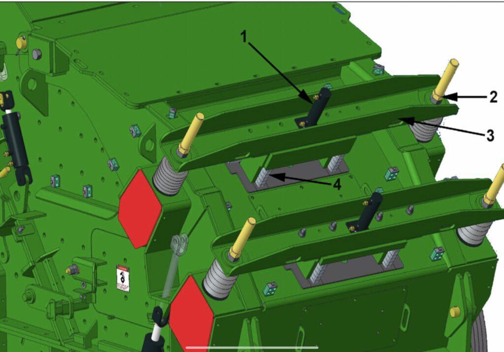 apron instelling met dikteplaten van een percussiebreker voor zware recyclingtoepassingen